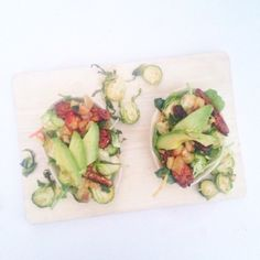 Vegan BBQ Tempeh + Brussel Sprout Tacos