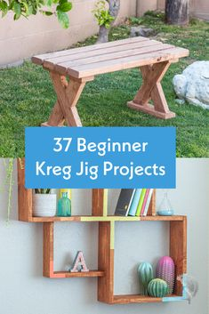 Love all of these! Great easy DIY Kreg Jig project for beginners! perfect for new woodworkers. So many kreg jig project woodworking plans and tutorials in here for furniture, shelves, farmhouse style and even 2x4 projects. #anikasdiylife #kregjig #woodworkingprojects Kreg Jig Projects, Scrap Wood Projects, Woodworking Projects That Sell, Diy Craft Projects, Diy Woodworking, Furniture Projects, Diy Crafts, Craft Organization, Craft Storage