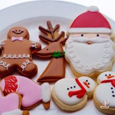 christmas cookies--step by step directions to make the santa
