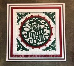 Inky Finger Zone Christmas Cards 2018, Merry Christmas Card, Christmas 2017, Xmas Cards, Handmade Christmas, Greeting Cards, Jingle Bell Crafts, Jingle Bells, Sue Wilson