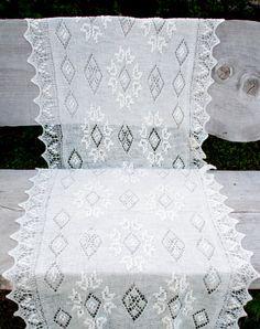 White wool hand knitted lace shawl Estonian lace by shallashalla, €99.00