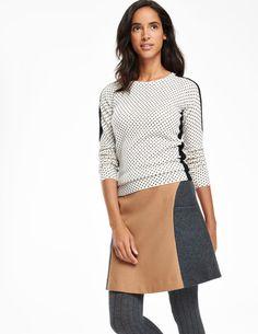 Freya Colourblock Skirt WG632 Mini Skirts at Boden