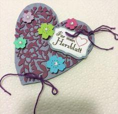 """Teegeschenk-Karte """"für mein Herzblatt"""": """"Schenk dir Teezeit"""" mit der Stampin' Up!®-Stanze: """"Blühendes Herz"""" - """" Bloomin' Heart"""""""