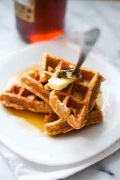 Oat and Honey Waffles from Warm Vanilla Sugar