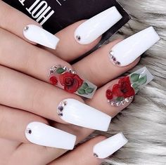 Uploaded by ☆⍣ѕαмяєєи⍣☆. Find images and videos about nails, white and rose on We Heart It - the app to get lost in what you love.