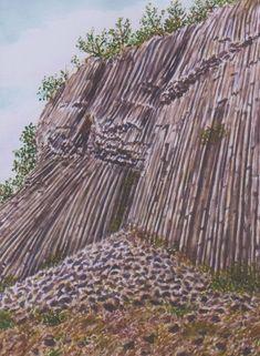 Minimax.cz - umělecký server pro všechny autory - ZLATÝ VRCH V LUŽICKÝCH HORÁCH Watercolor Landscape, Rocks, Trees, Pastel, Paintings, Drawings, Plants, Cake, Paint