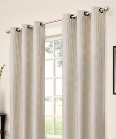 Look at this Ivory Captree Blackout Grommet Panel on #zulily today!