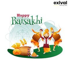 Baisakhi, a Spring Festival for Sikhs and Hindus. Usually, celebrate on or April every year. To commemorate the founding of Khalsa by Gobind Singh in Baisakhi Festival, Spring Festival, Happy Baisakhi, People Dancing, Festival Celebration, Royalty Free Stock Photos, Banner, Holiday Decor, Celebrities