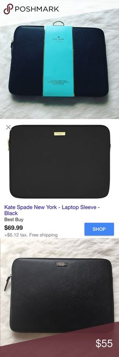"""Kate Spade laptop sleeve Work and travel have never looked better with the Kate Spade New York Saffiano Sleeve for 13"""" MacBook. Compatible with most 13"""" laptops, the Saffiano Sleeve is scratch-resistant and easy to clean.♠️BRAND NEW NEVER USED♠️🚫NO TRADES LOW BALL OFFERS GET BLOCKED🚫 kate spade Accessories Laptop Cases"""