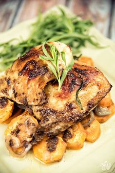 Roasted Chicken Thighs with Sweet Potatoes - A simple, fuss-free recipe to stock up on meals for the week or feed a big family in style. (Paleo, Gluten Free, Whole30)