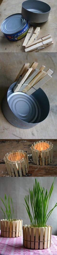 DIY Planter & Candle Holder