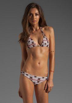 Acacia Swimwear Canons Triangle Top in Native