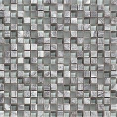 Mineral Tiles - Stone Glass Mosaic Tile Blue Grey, $11.50 (http://www.mineraltiles.com/stone-glass-mosaic-tile-blue-grey/)