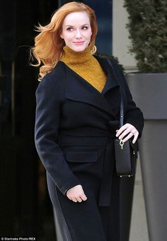 Red head: On Wednesday, Christina was seen stepping out with her red hair in New York