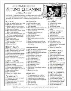 Free printable spring cleaning checklist from www. - Free printable spring cleaning checklist from www.flandersfamil… Free printable spring cleaning c - Spring Cleaning Schedules, Deep Cleaning Checklist, Weekly Cleaning, Household Cleaning Tips, House Cleaning Tips, Diy Cleaning Products, Cleaning Solutions, Cleaning Hacks, Cleaning Lists