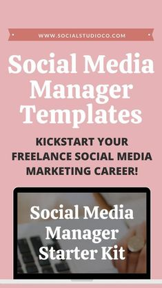 Kickstart your freelance social media marketing career with these instant download templates. The Social Media Manager Starter Kit has all the templates new social media managers need to impress your new clients with a streamlined onboarding process, including the necessary contract, templates, and checklists. Templates for social media managers. Freelance social media manager documents. Social media manager client contract. Social media manager proposal. Social media audit for Instagram. Social Media Analytics, Social Media Marketing Business, Social Media Tips, Content Marketing, Digital Marketing, Business Tips, Creative Business, Business Baby, Online Business