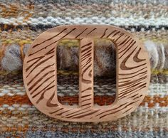 Wooden belt buckle from Patagonia