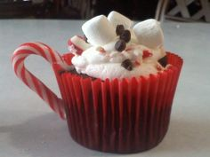 Hot Cocoa Cupcakes….Perfect for a Christmas Dessert!