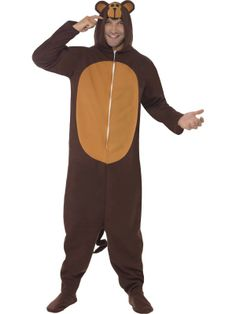bc0d1449f16d Mens Fancy Party Dress Wild Jungle Animal Outfit Onesie Mascot Monkey  Costume - deal of the week