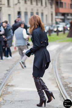 Ceec working all black in Milan. #ChristineCentenera
