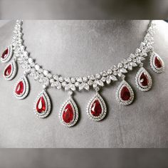 A Luxury that is hard to find an equivalent Ruby and Diamonds necklace Collection.#Natural #Ruby #Ruby #Red #Vivid #PigeonBlood #Diamonds #White #Collection #HightQuality #Elegance #Luxury #Necklace #Beautiful #TheBest #TheEmporium #SiamParagon #FineJewelry #PrimaGems #ความหรูหราที่ยากจะหาเทียบเท่าสร้อยคอเพชรและทับทิม