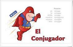 El Conjugador (Conjugación de verbos) Spanish Tenses, Tenses Grammar, French Verbs, Irregular Verbs, Teaching French, German Language, France, Learning Spanish, Learning