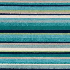 Shop Godric Teal Striped Area Rug - x - Overstock - 22403132 Teal Area Rug, Area Rugs, Rustic Elegance, Cool Tones, Home Decor Trends, Online Home Decor Stores, Rug Store, Surf Shop, Cool Rugs