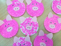 Świnka | pedagogpisze.pl Farm Animals Preschool, Farm Animal Crafts, Pig Crafts, Farm Crafts, Animal Crafts For Kids, Toddler Crafts, Preschool Crafts, Art For Kids, Toddler Fine Motor Activities