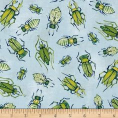 Designed by Cori Dantini by Blend Fabrics, this cotton print fabric is perfect for quilting, apparel and home decor accents. Colors include shades of blue, shades of green, off-white and yellow.