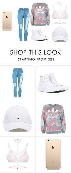 """""""slay school outfit"""" by explorer-14546165127 on Polyvore featuring WithChic, Converse, adidas and Kamilla White"""