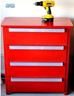 From a regular dresser - tool chest makeover Hot Diggity Dressers: Part II