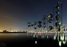 日没後の東京湾