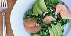 Shredded Kale Salad with Avocado & Grapefruit