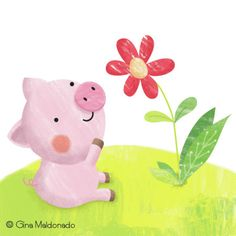 Gina Lorena Maldonado - Piggy And Flower - GM