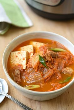 instant pot kimchi jjigae The post Instant Pot Kimchi Jjigae (Kimchi Stew) Korean Bapsang appeared first on Tasty Recipes. Kimchi Soup Recipe, Kimchi Jigae Recipe, Korean Dishes, Korean Food, Vietnamese Food, Asian Recipes, Healthy Recipes, Korean Soup Recipes, Hawaiian Recipes