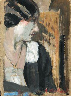 Visage de profil, Edouard Vuillard. (1868 - 1940)