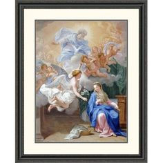 "Global Gallery 'The Annunciation' by Giovanni Odazzi Framed Painting Print Size: 40"" H x 32.57"" W x 1.5"" D"