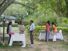 GC Publications and Alchemy products at the Gnostic Centre gardens during tea. Event: Special Meditation at The Shrine on the occasion of Sri Aurobindo's Birthday and India's Independence day; Date: 15 Aug