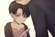 attack on titan/ shingeki no kyojin - Levi Ackerman cute kid/child with a knife