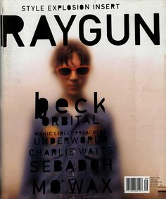 Beck's RAYGUN magazine cover, designed by David Carson. David Carson is lauded for his creative and innovative typographic design. His influence is seen throughout many works today, from graphic designs to magazine designs, to album covers. Bühnen Design, Book Design, Print Design, Print Print, Massimo Vignelli, Design Graphique, Art Graphique, Editorial Layout, Editorial Design