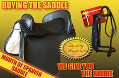 Marjoman gives you a bridle buying the saddle. Only during March!!  http://www.marjoman.net/en/spanish-saddles/488-gift-bridle-8435290037610.html