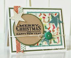 Patterned Paper: When Grandma Dee Sketch # 9 Merry Christmas