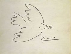 Picasso's first Dove of Peace, chosen as the emblem for the First International Peace Conference in Paris in 1949, was a traditional, realistic picture of a pigeon which had been given to him by his great friend and rival, the French artist Henri Matisse.    Picasso later developed this image into a simple, graphic line drawing that is one of the world's most recognisable symbols of peace. He also named his fourth child 'Paloma', the Spanish word for 'dove'.