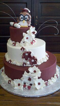 Owl Grad Cake! Soo cute!