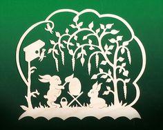 Fensterbild Ostern Hasenmaler