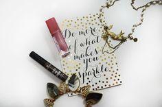 Essence Liquid lipstick and Make me brow eyebrow gel mascara. Click the image for a review!