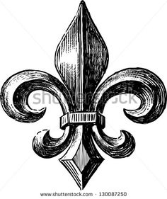 Fleur De Lys Stock Vector Illustration 130087250 : Shutterstock