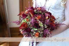 deep rich wedding bouquet