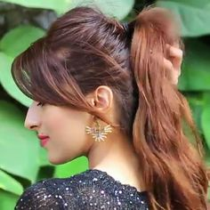 If you have a Fringe or Bangs you can totally try this hairstyle, it's super chic and gives you a different perspective to a high ponytail😋 Frisuren nervös ✨High Ponytail Hairstyle With Fringes✨ Ponytail Hairstyles Tutorial, High Ponytail Hairstyles, Easy Hairstyles For Long Hair, Fringe Hairstyles, Messy High Ponytails, Kids Hairstyle, Toddler Hairstyles, Bun Hairstyle, Bridal Hairstyle