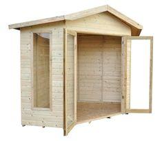 Forest Honeybourne Corner 8 x 8 ft Summerhouse Outdoor Storage Sheds, Shed Storage, Tongue And Groove Timber, Garden Sheds Uk, Corner Summer House, Aquarium Shop, Corner Sheds, Apex Roof, Store